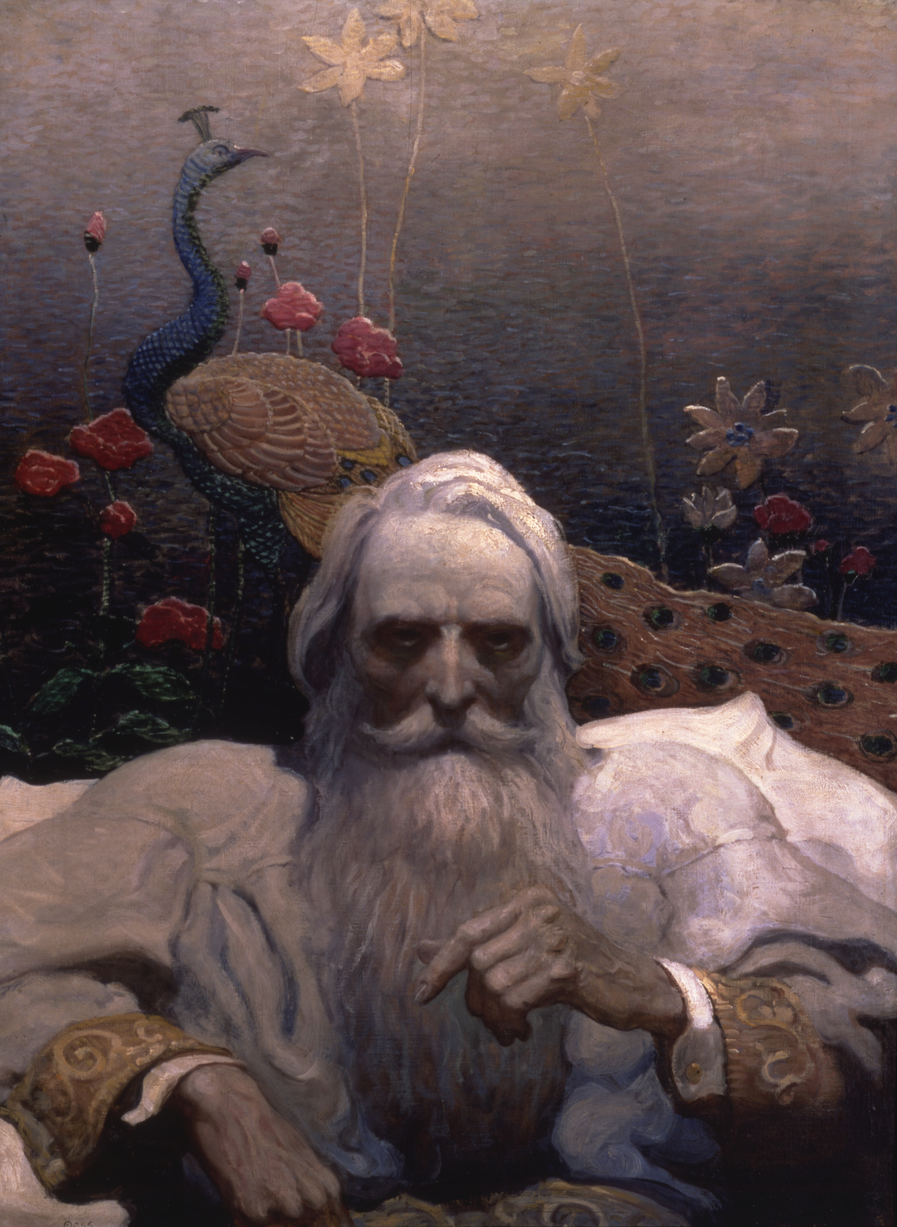 """""""Captain Nemo"""" by Newell Convers Wyeth (Illustration for The Mysterious Island, by Jules Verne,  New York: Scribner's, 1918 The Andrew and Betsy Wyeth Collection)"""