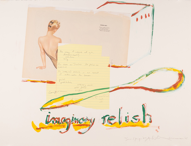 """George Schneeman and Anne Waldman, """"Imaginary Relish"""" (2005), mixed media on paper (© Poet's House and The Estate of George Schneeman)"""