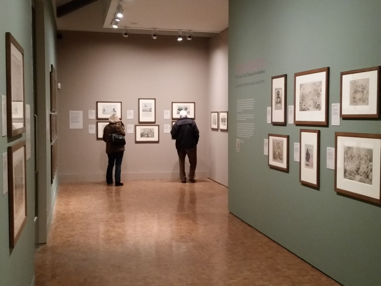 Installation view of 'High Spirits — The Comic Art of Thomas Rowlandson'