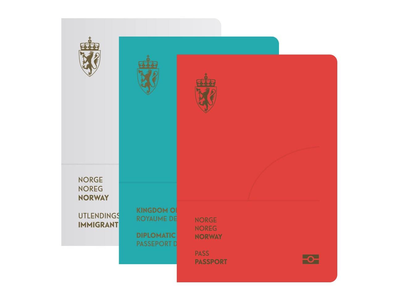 Norway's new passport covers (Image courtesy of Neue)
