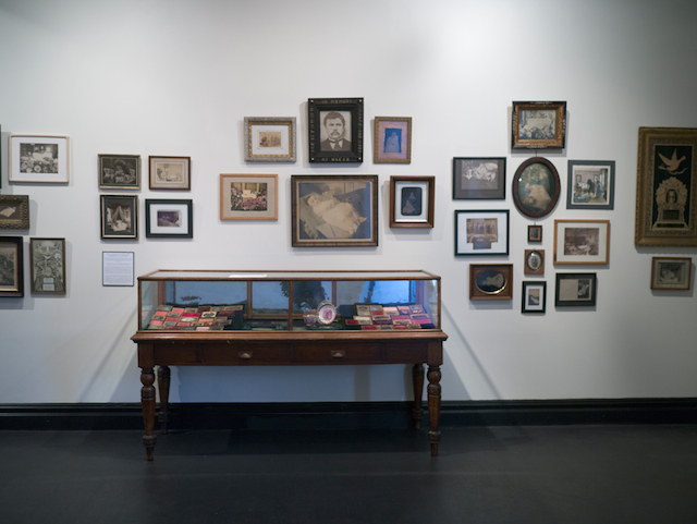 """Installation view, """"The Art of Mourning"""" at The Morbid Anatomy Museum"""