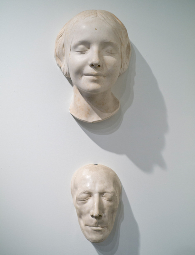 Two Death Masks; top mask from the collection of Evan Michelson; bottom mask from the collection of Mike Zohn