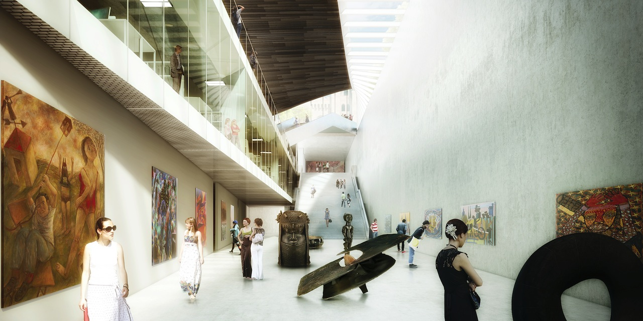 Artist's rendering of the lower level of the National Museum of African Art (Image courtesy of the Smithsonian)