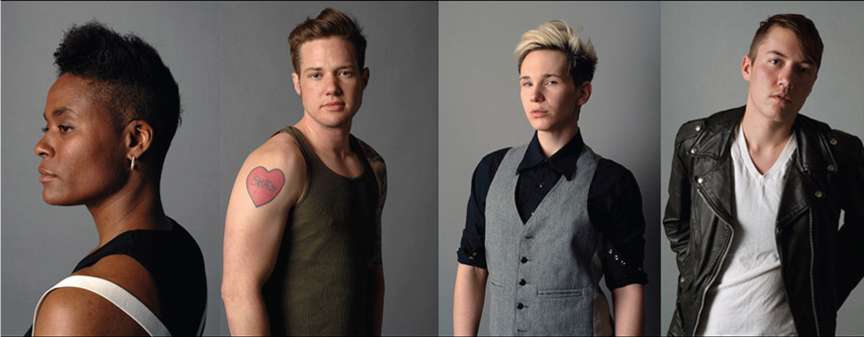 Images by David Naz from his Genderqueer project (via davenaz.com)