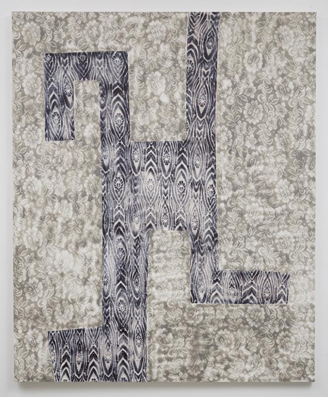 "Tamara Gonzales, ""lunar skywalker"" (2014) spray paint on canvas, 66 x 54 inches/167.6 x 137.2 cm"