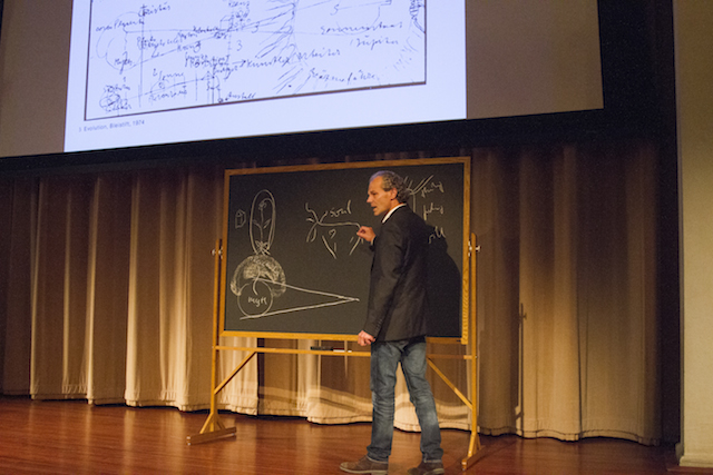 Wolfgang Zumdick presenting at SAIC's Lived Practice symposium