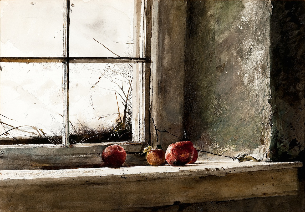 """""""Frostbitten,"""" 1962, watercolor on paper, Private Collection. © Andrew Wyeth"""