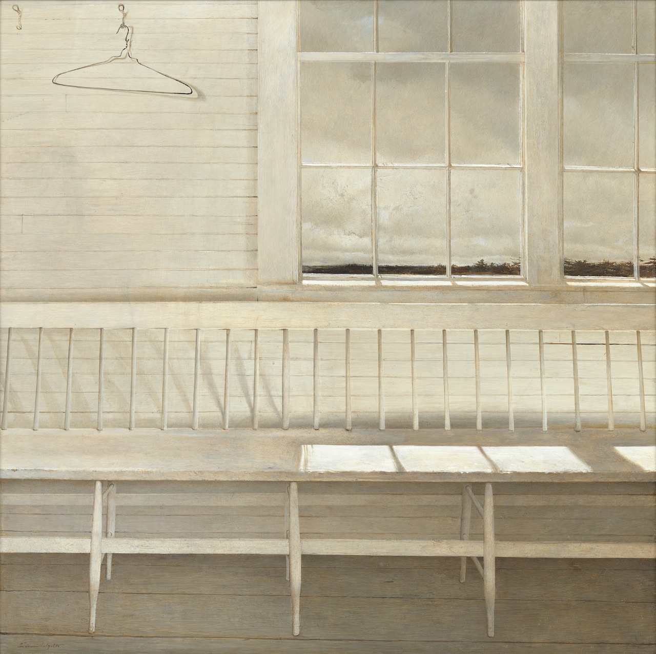 """""""Off at Sea,"""" 1972, tempera on panel © Andrew Wyeth. Private Collection"""