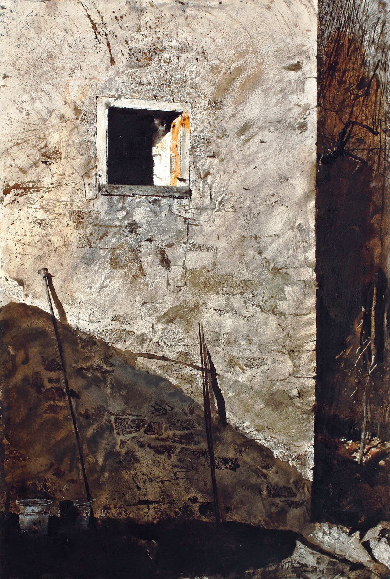 """""""The Pikes,"""" 1965, watercolor on paper © Andrew Wyeth. The San Diego Museum of Art, Gift of Mr. and Mrs. Norton S. Walbridge"""
