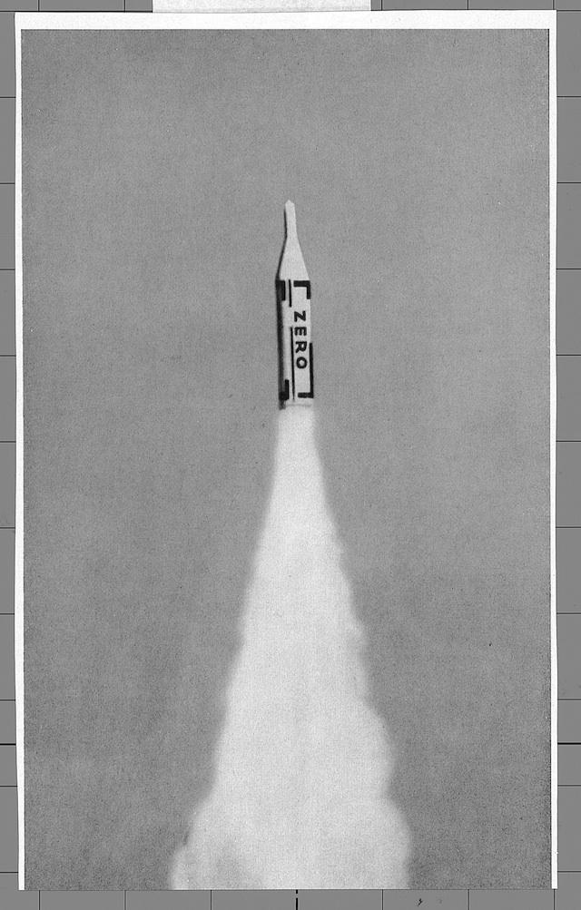 Illustration from ZERO 3 (July 1961), design by Heinz Mack © Heinz Mack Photo: Heinz Mack