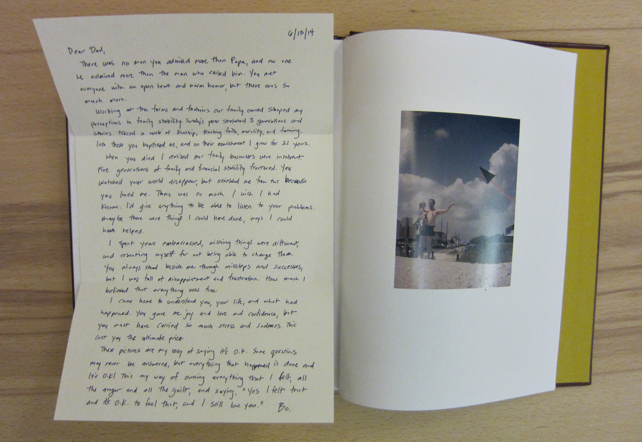 "McNair Evans, ""Confessions for a Son"" (photograph of the book by the author for Hyperallergic)"