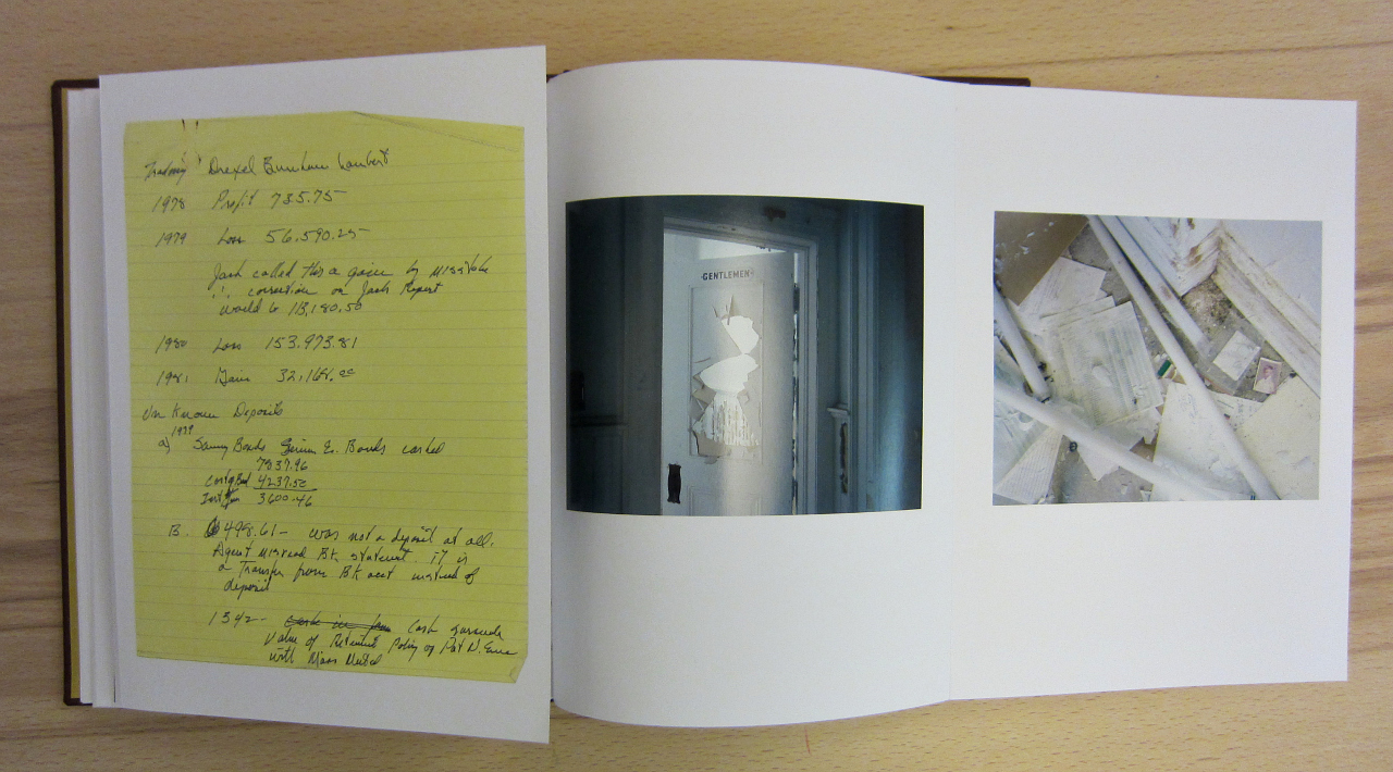 """McNair Evans, """"Confessions for a Son"""" (photograph of the book by the author for Hyperallergic)"""