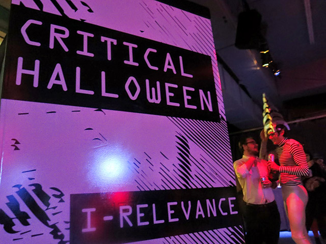 Crowds at Critical Halloween 2014 (photo courtesy the Storefront for Art and Architecture)