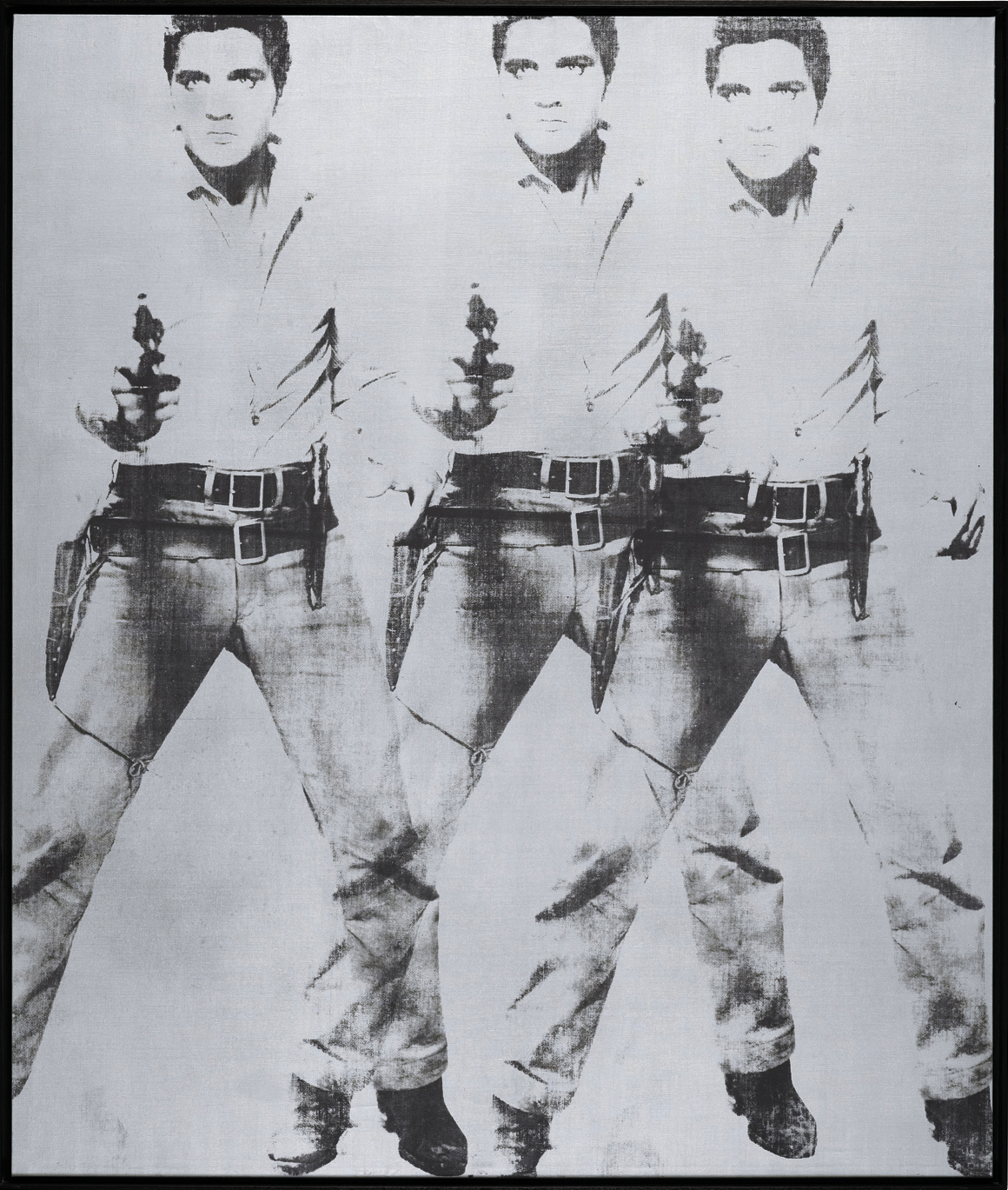 """Andy Warhol's """"Triple Elvis (Ferus Type)"""" (1963) sold for $81.9M. (The Andy Warhol Foundation for the Visual Arts / Artists Rights Society (ARS), New York)"""
