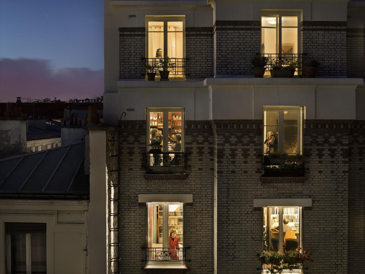 Le 1 novembre 2012, rue de Belleville, Paris-20e
