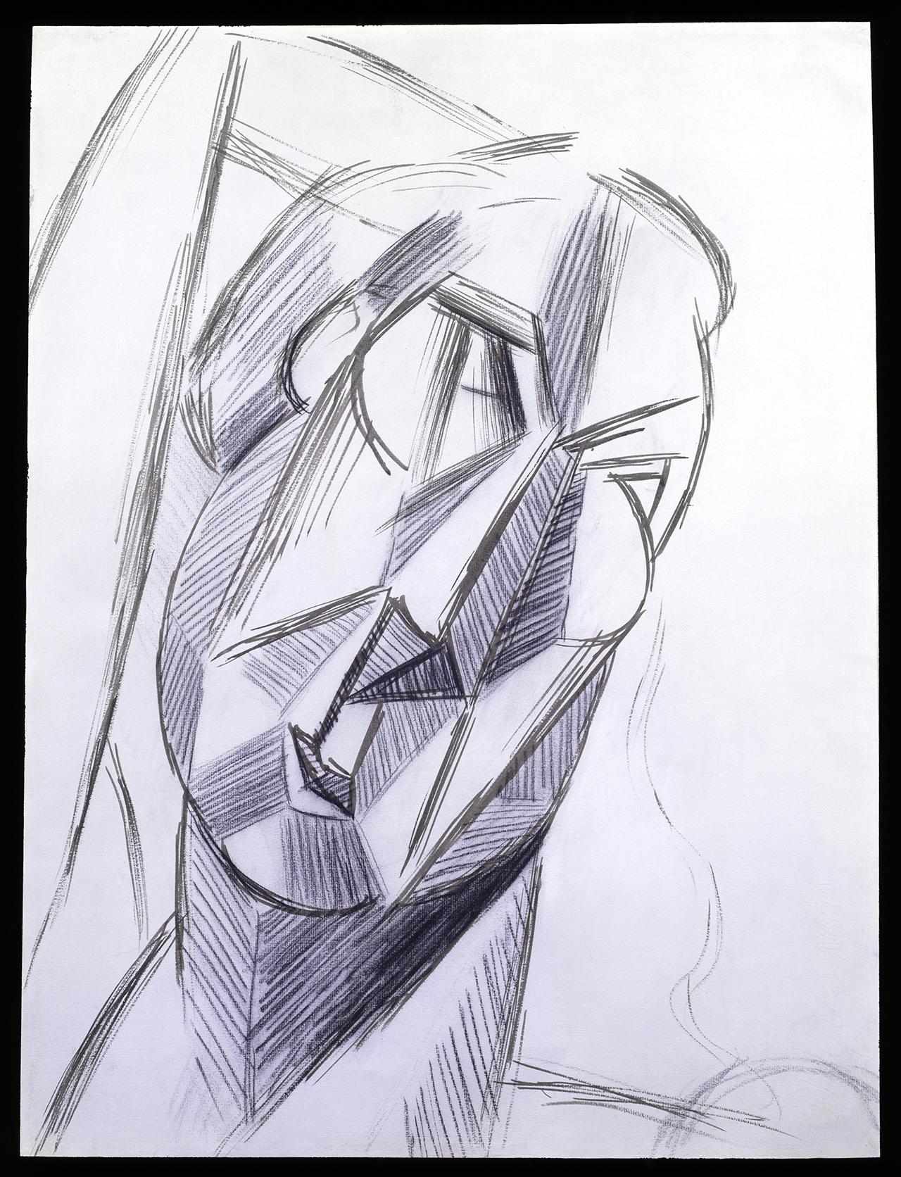 """Pablo Picasso, """"Tete (Head of Fernande)"""" (1909), gouache and pencil on paper, 24 1/2 x 18 1/4 in. (62.2 x 46.4cm) (©2014 Estate of Pablo Picasso/Artists Rights Society, NY) (click to enlarge)"""
