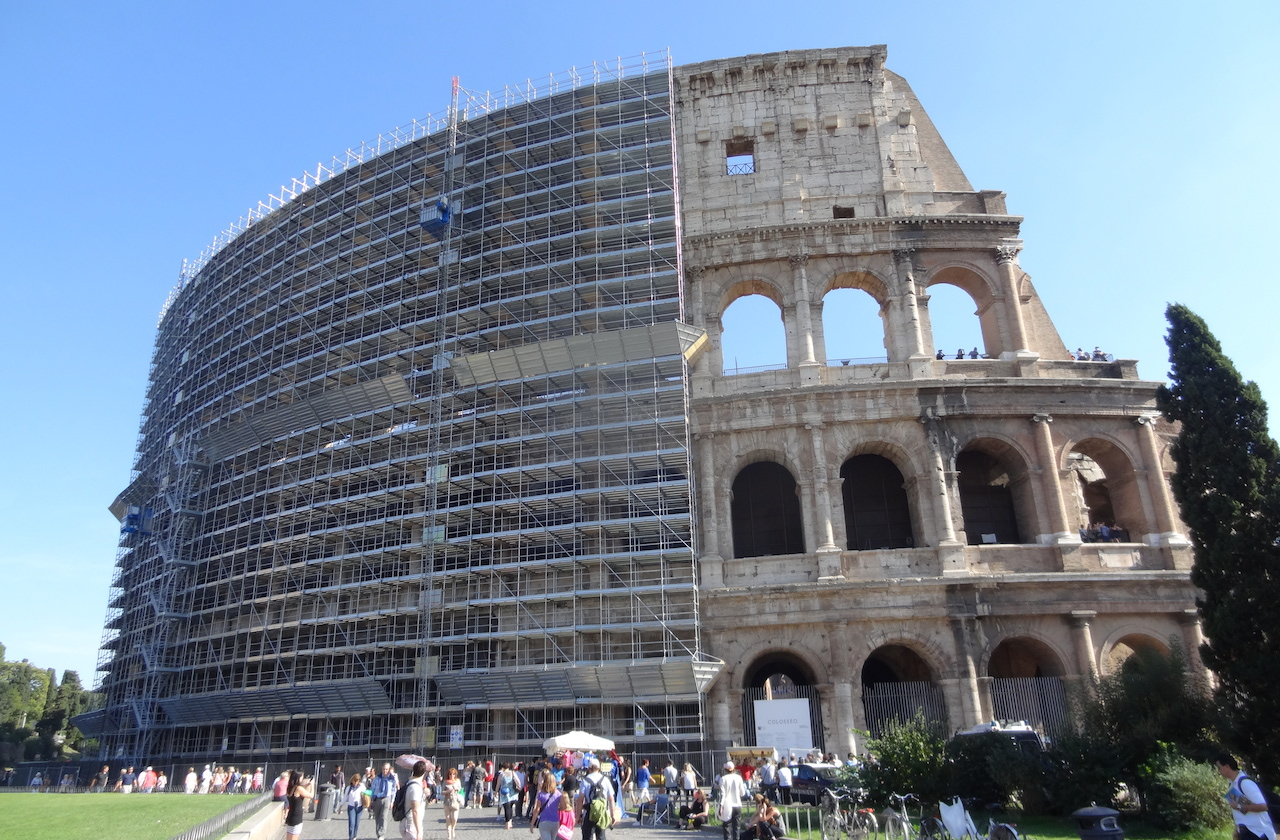 The Colosseum in Rome (photo by the author for Hyperallergic)