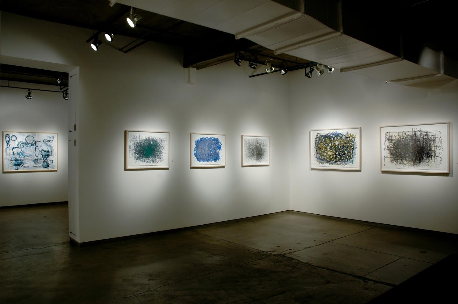 Installation view of Creative Growth: Dan Miller exhibition at Ricco Maresca Gallery, New York