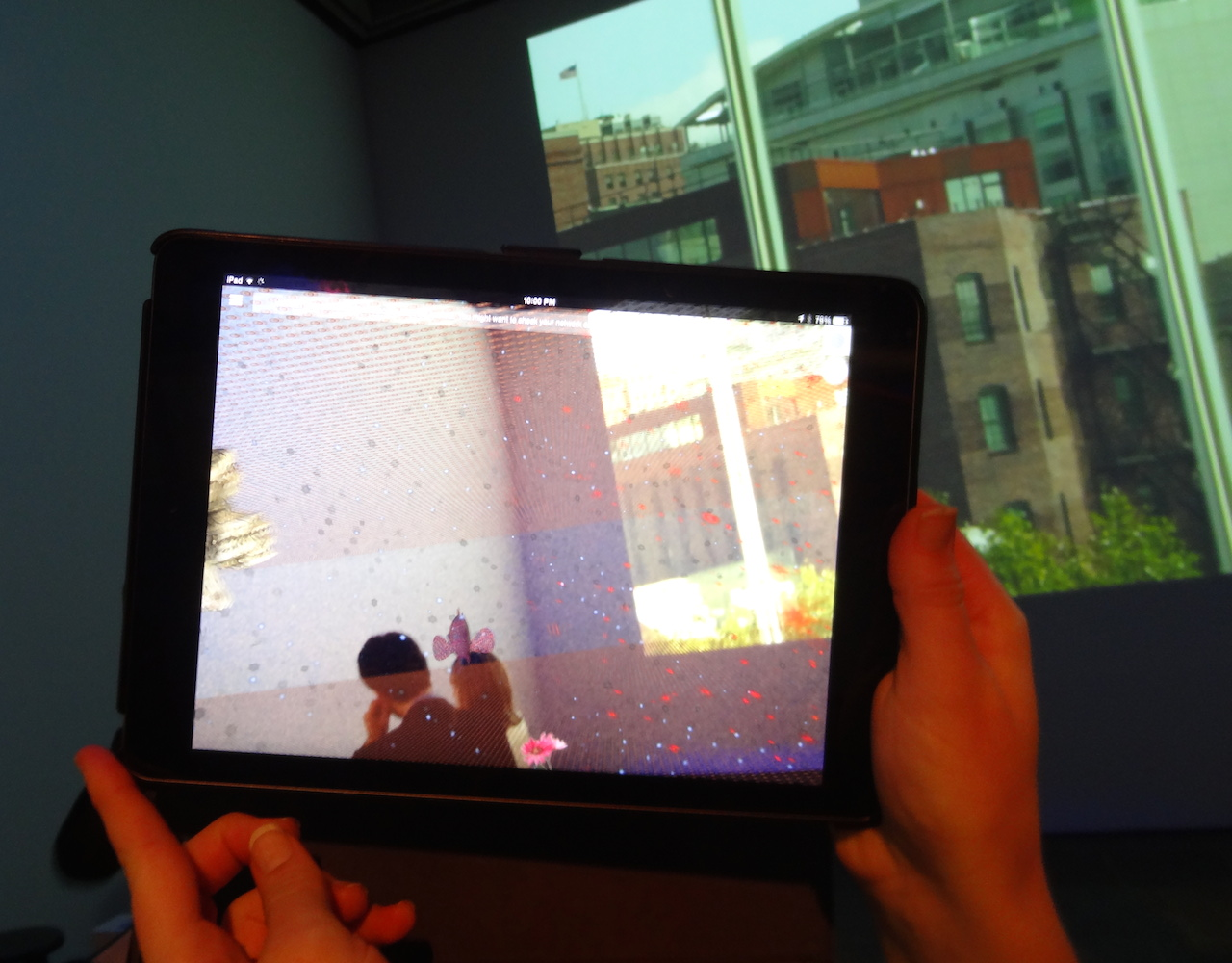 """Will Pappenheimer's augmented reality app """"Proxy, 5-WM2A"""" (2014)"""