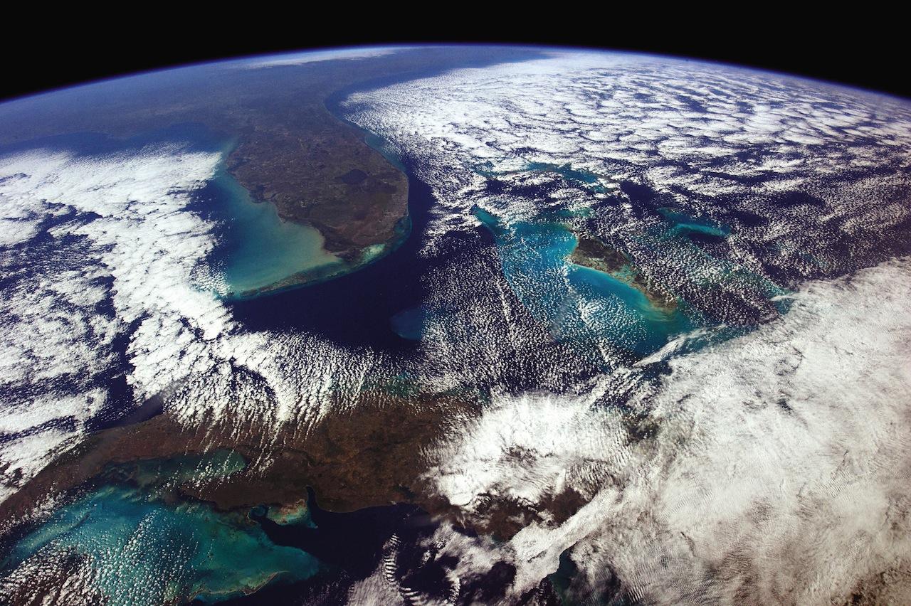 View from Havana to Washington (photograph by Chris Hadfield/NASA)