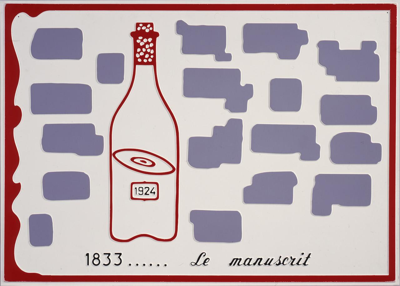 Marcel Broodthaers, Le Manuscrit, 1971 // Collection privée © ADAGP, Paris 2014, Courtesy Estate Marcel Broodthaers, Ph. DR All images courtesy of MuCEM
