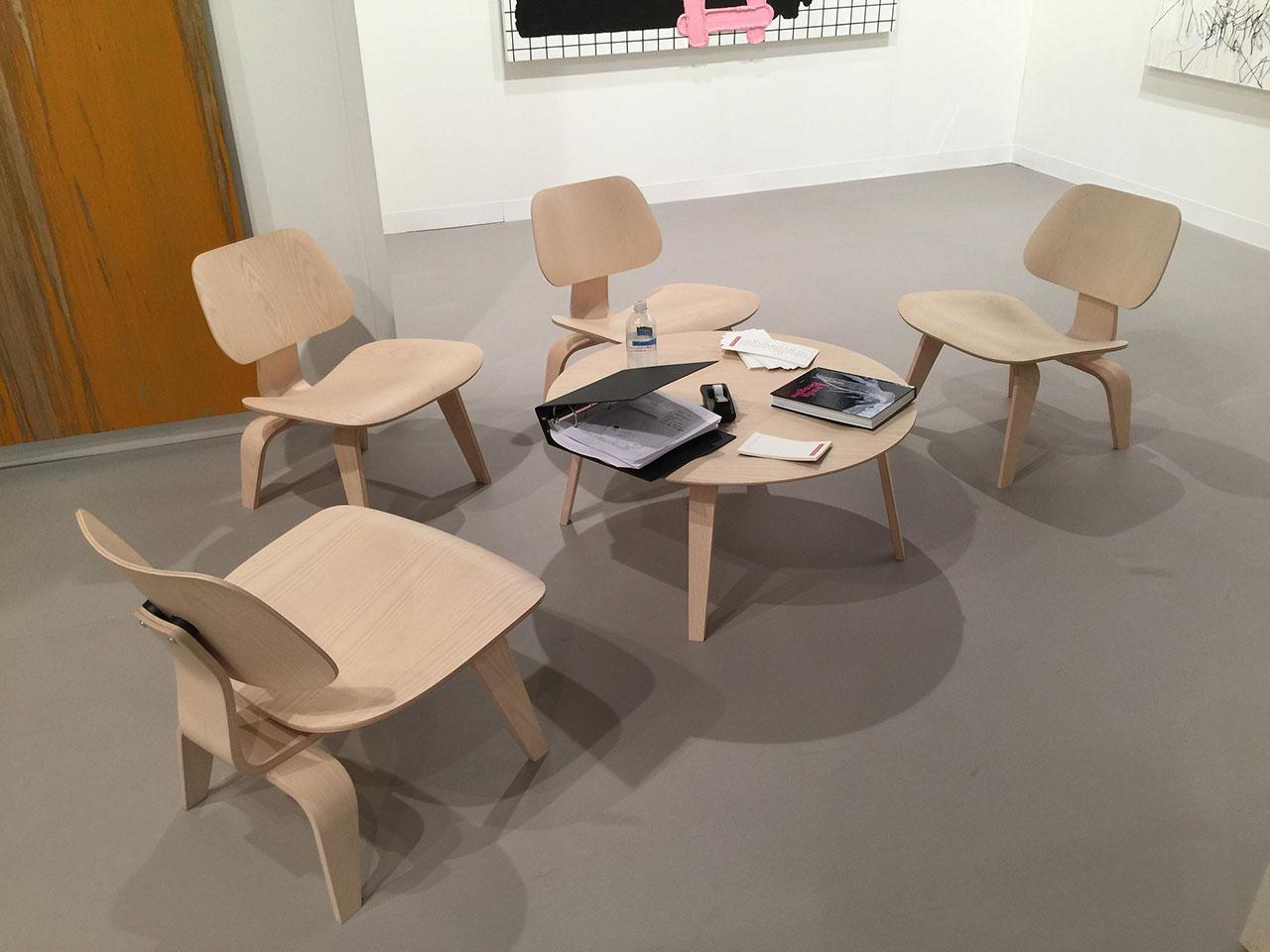 Eames chairs at Cheim & Read