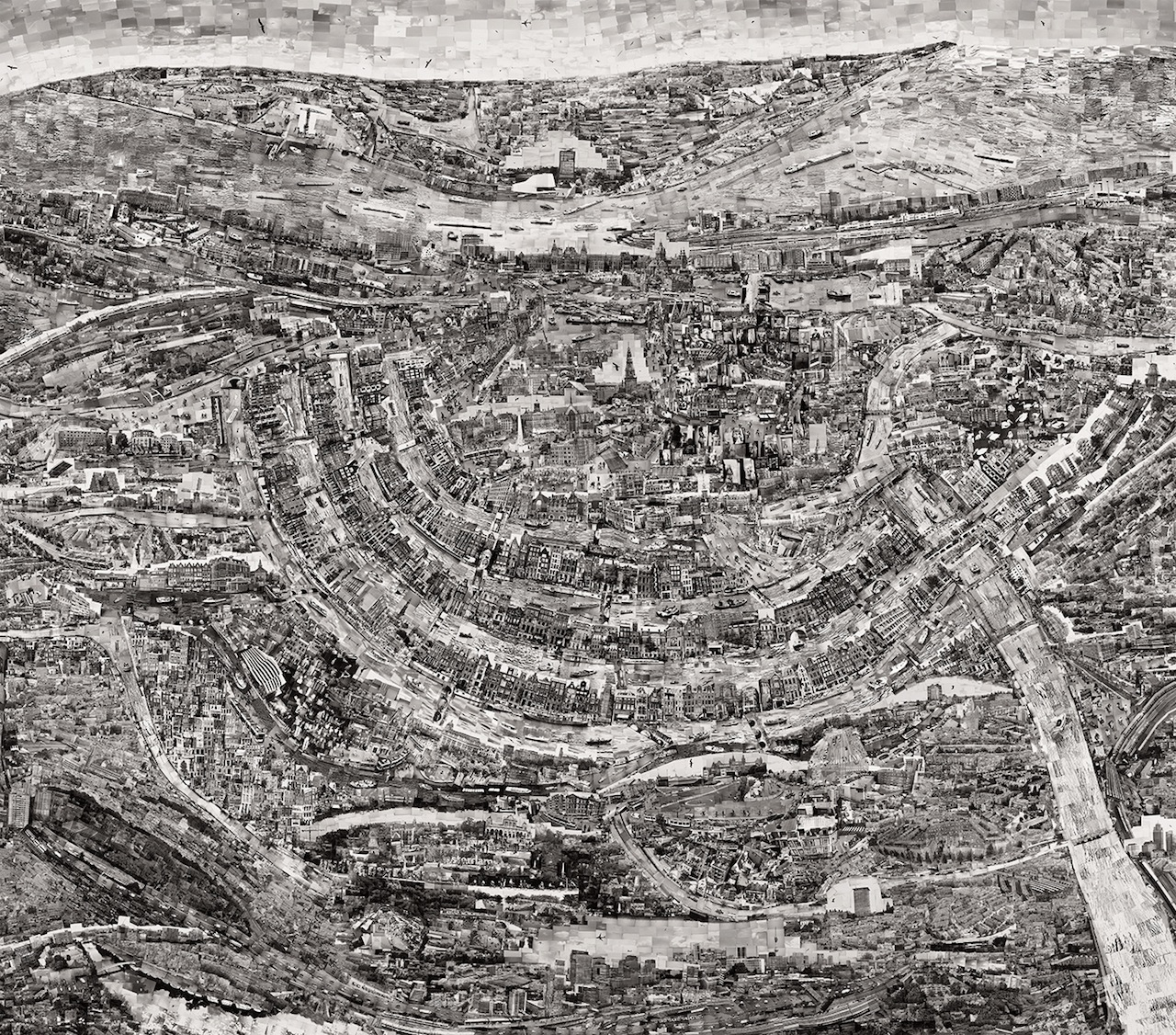 """Diorama Map Amsterdam"" (2014) by Sohei Nishino (Image courtesy of Michael Hoppen Gallery)"