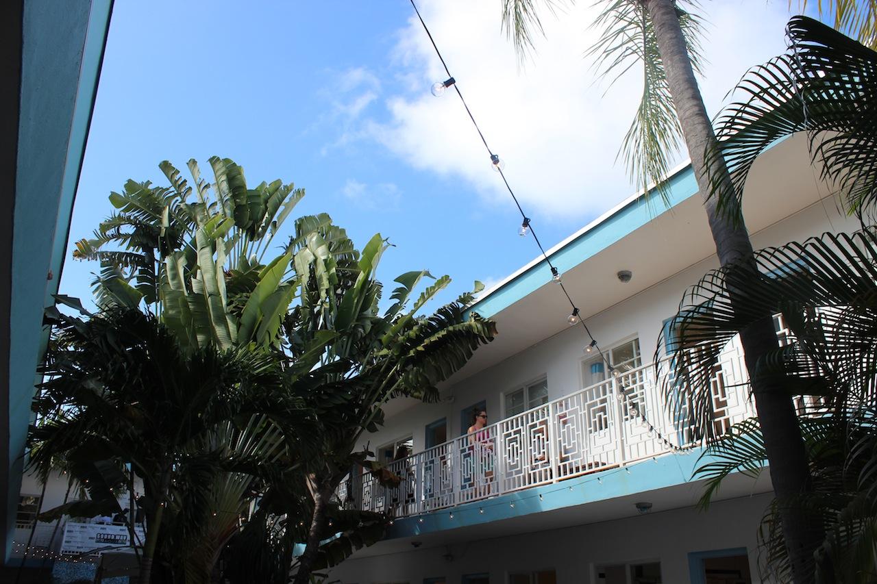 Aqua Art Miami, as seen from the courtyard