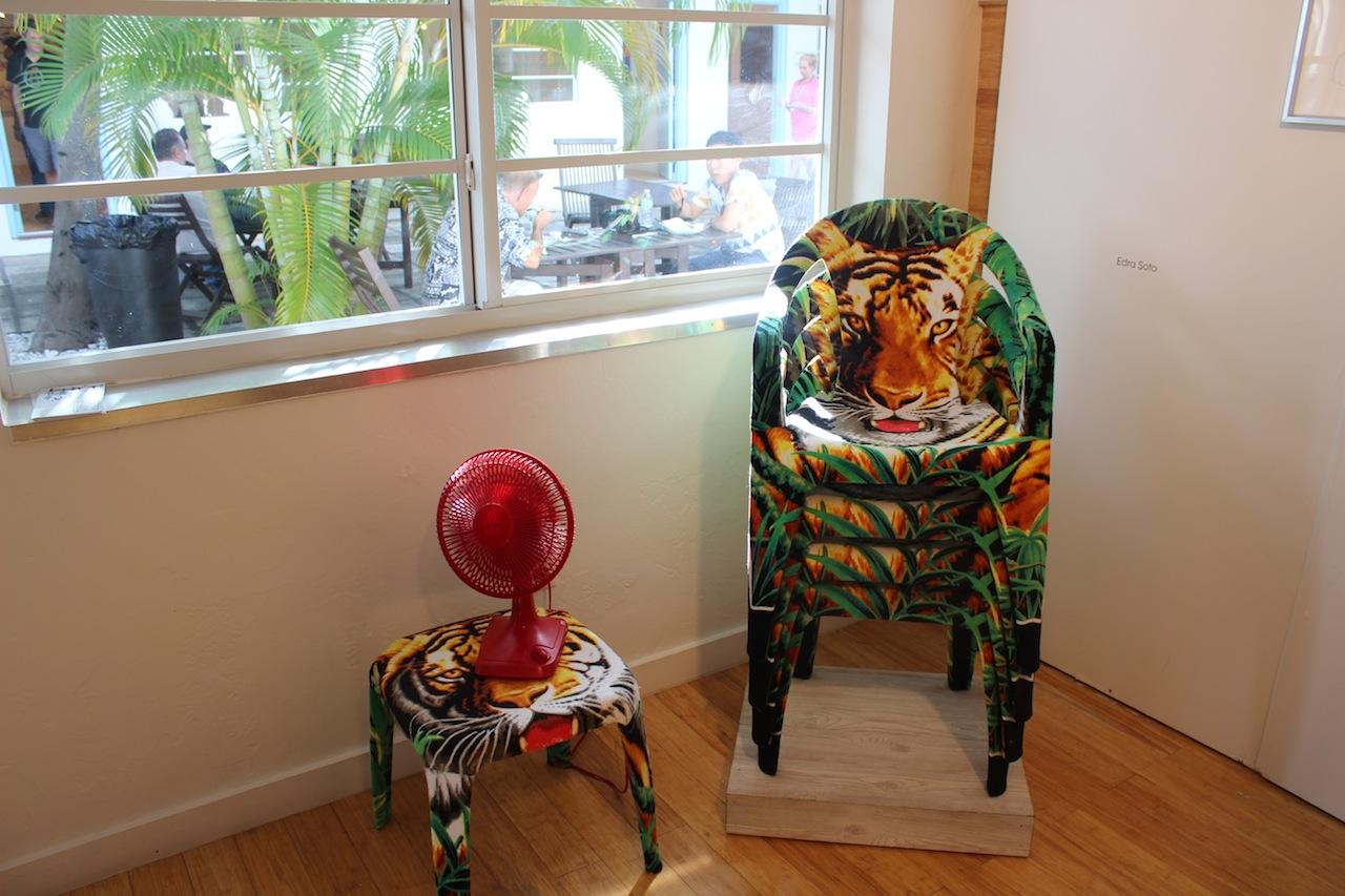 "Edra Soto, ""Tropicalamerican(Multi)"" (2014), in the ArtSlant booth"