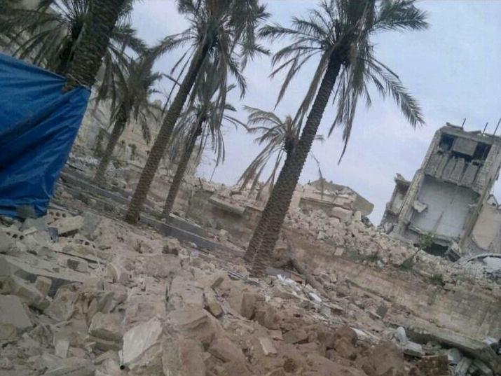 Allouche, 2014, syria aleppo sultaniah mosque area 141207