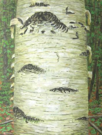 """Rudy Burckhardt, """"Ant"""" (1996), oil on canvas, 24 x 18 inches"""