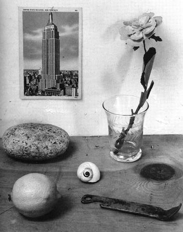 """Rudy Burckhardt, """"Snail and Can Opener"""" (1950), gelatin-silver print, 7 x 8 inches"""