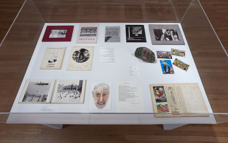 Installation view at Rudy Burckhardt exhibition