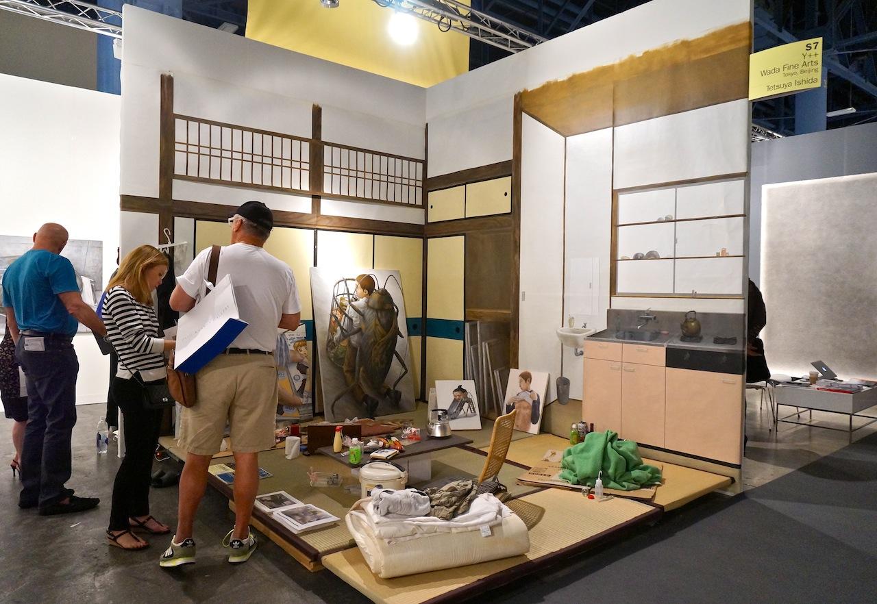 Re-creation of Tetsuya Ishida's studio at Y++ Wada Fine Arts' booth