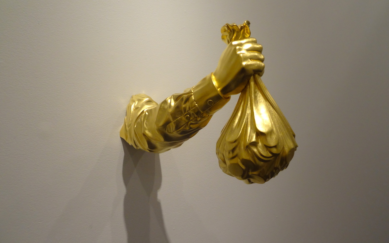 """Elmgreen & Dragset, """"Temptation"""" (2012) in 'GOLD' at the Bass Museum of Art"""