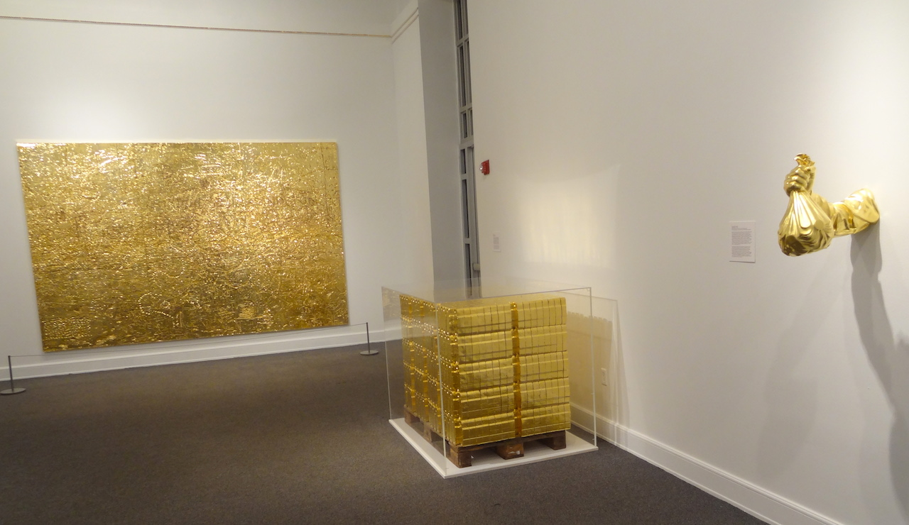 Installation view of 'GOLD' at the Bass Museum of Art