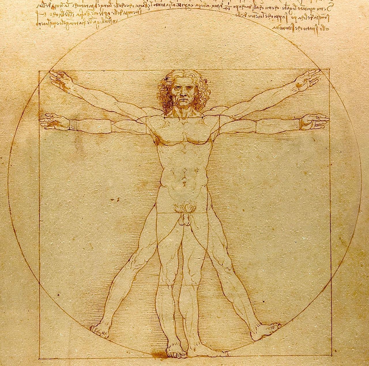 "Leonardo Da Vinci's ""Vitruvian Man"" exemplifies the original ""Renaissance Man's"" measuring of the scientific and artistic (via Wikipedia)"