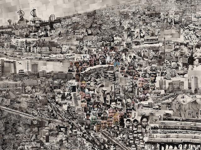 "Detail of ""Diorama Map New Delhi"" (2013) by Sohei Nishino (Image courtesy of Michael Hoppen Gallery)"
