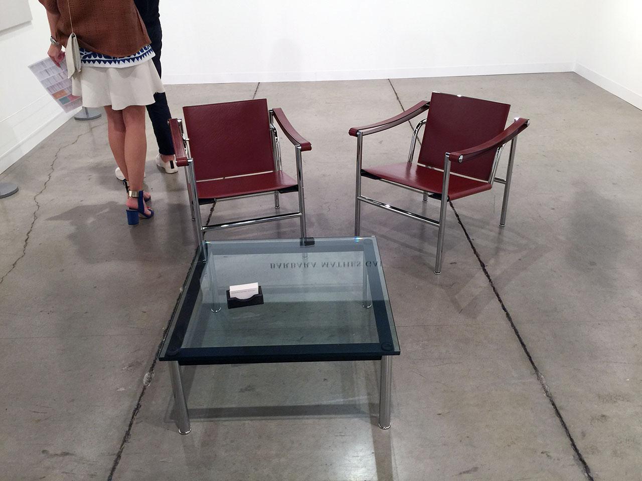At Barbara Mathes Gallery of New York