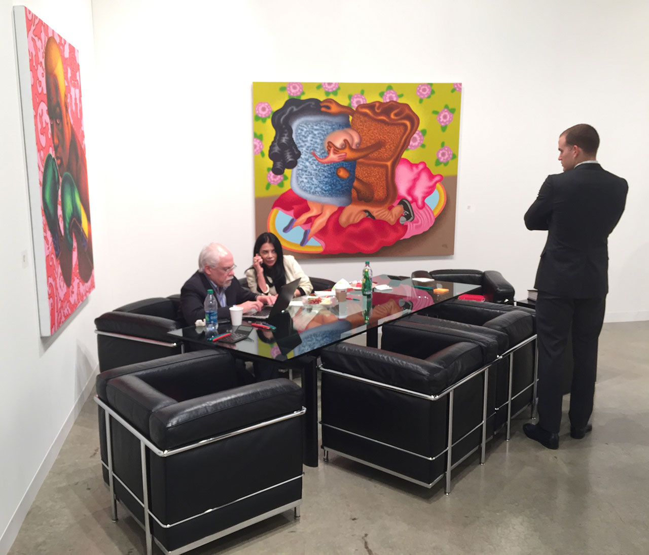 At Mary Boone gallery of New York
