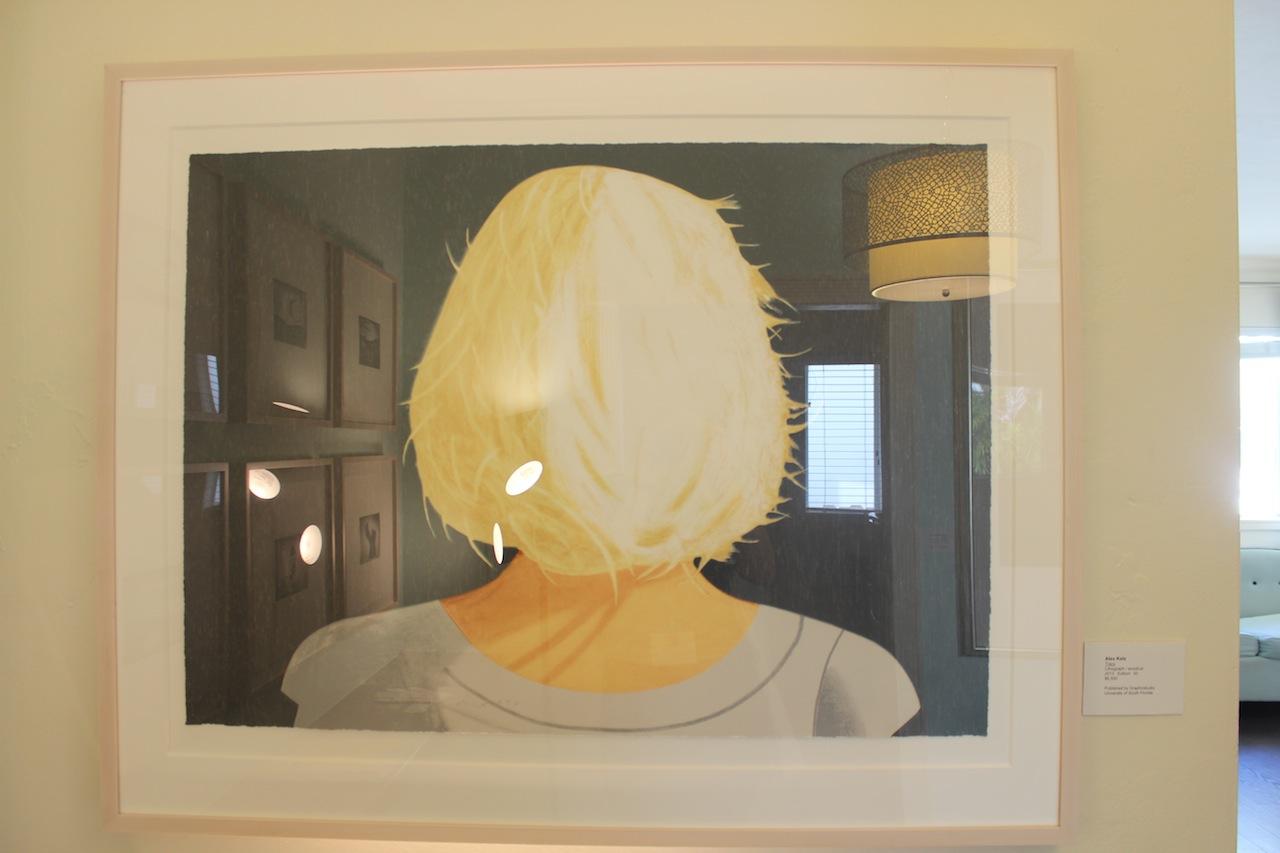 "Alex Katz, ""Tracy"" (2013), in the Graphicstudio/U.S.F. booth"