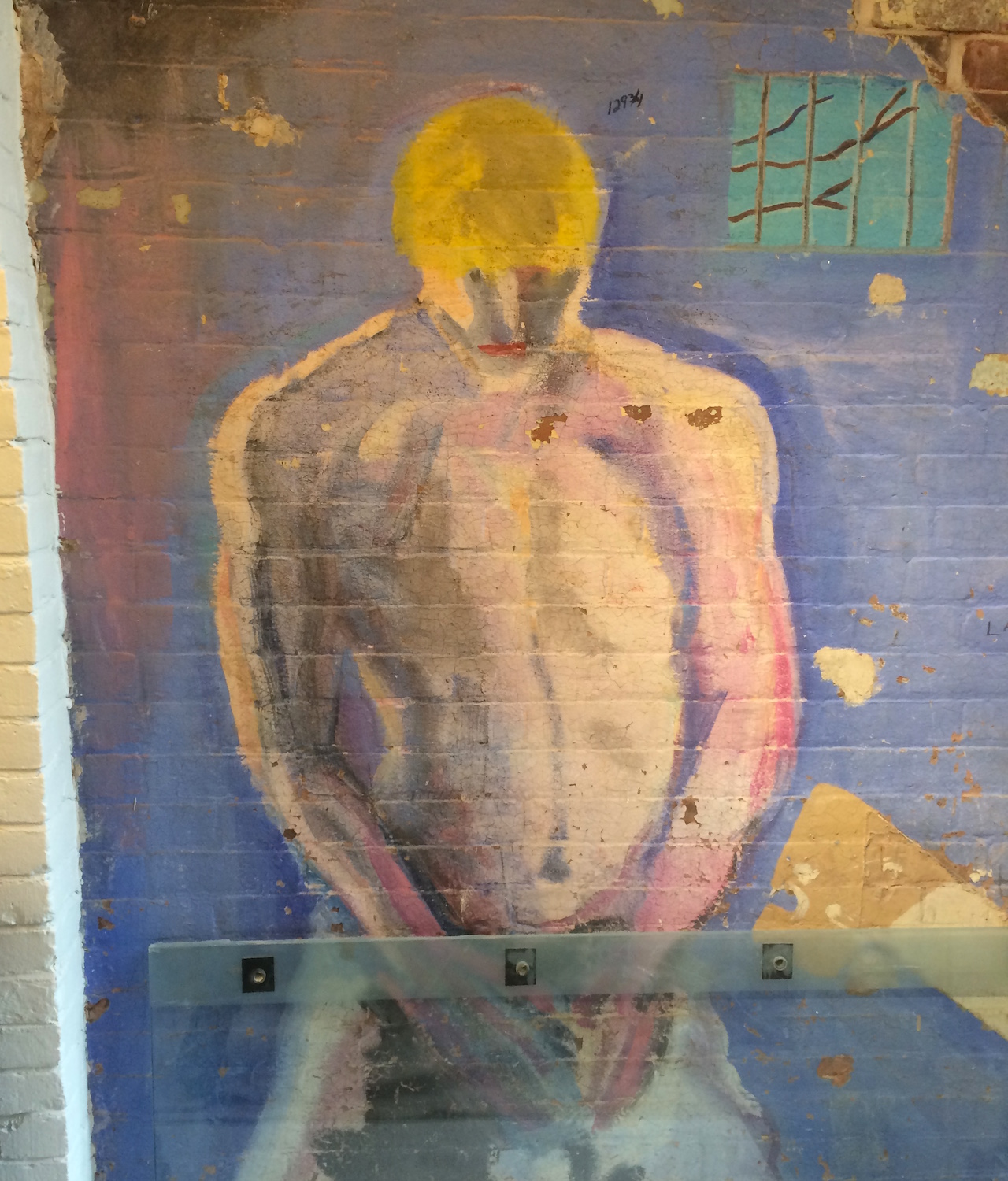 """Stephen Lack, """"Boy on Wall"""" (1989), at the LGBT Center"""