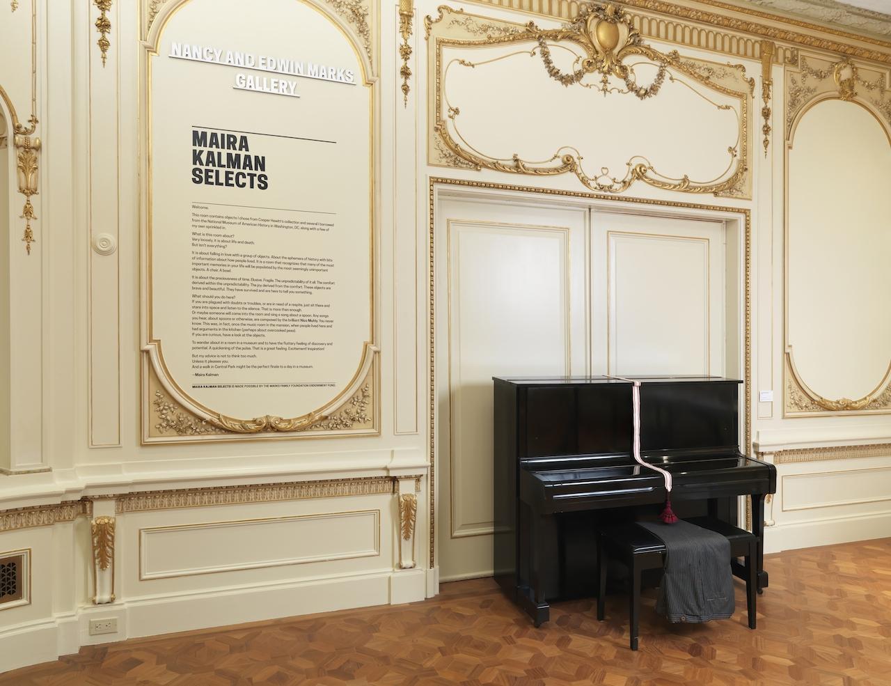 """nstallation view: """"Maira Kalman Selects."""" Photo: Matt Flynn © 2014 Cooper Hewitt, Smithsonian Design Museum"""