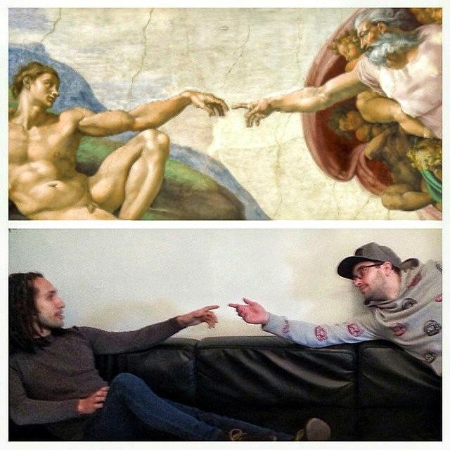 "Michelangelo, ""The Creation of Adam"""