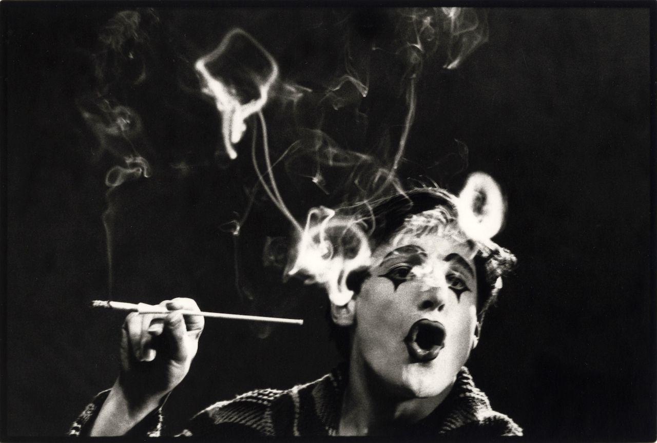 Monique Jacot, Der Pantomime Dimitri 1961, Silbergelatineabzug, © Monique Jacot / Fotostiftung Schweiz, Winterthur