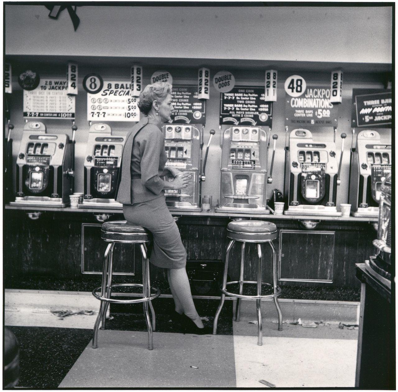 Monique Jacot, Las Vegas 1959, Silbergelatineabzug, © Monique Jacot / Fotostiftung Schweiz, Winterthur