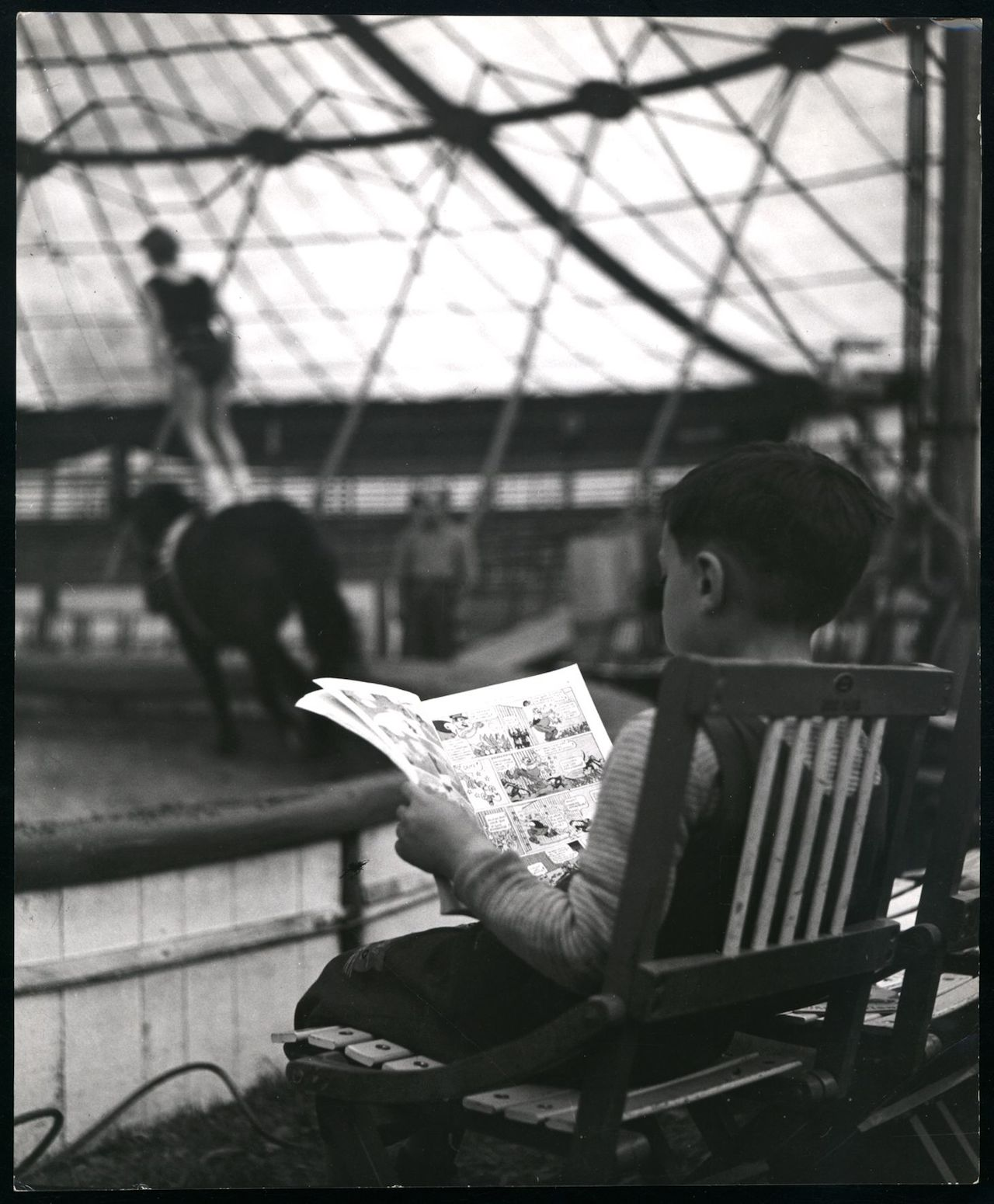 Monique Jacot, Lausanne 1954, Silbergelatineabzug, © Monique Jacot / Fotostiftung Schweiz, Winterthur
