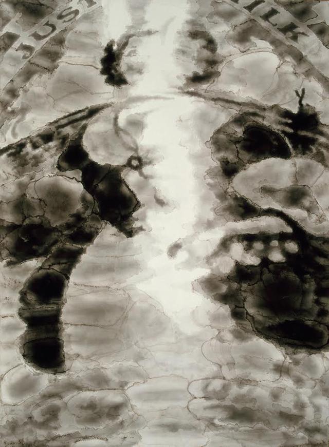 "John Wilkins, ""Ovaltinies 22,"" (1982), Watercolor on paper, 54 x 39 in"