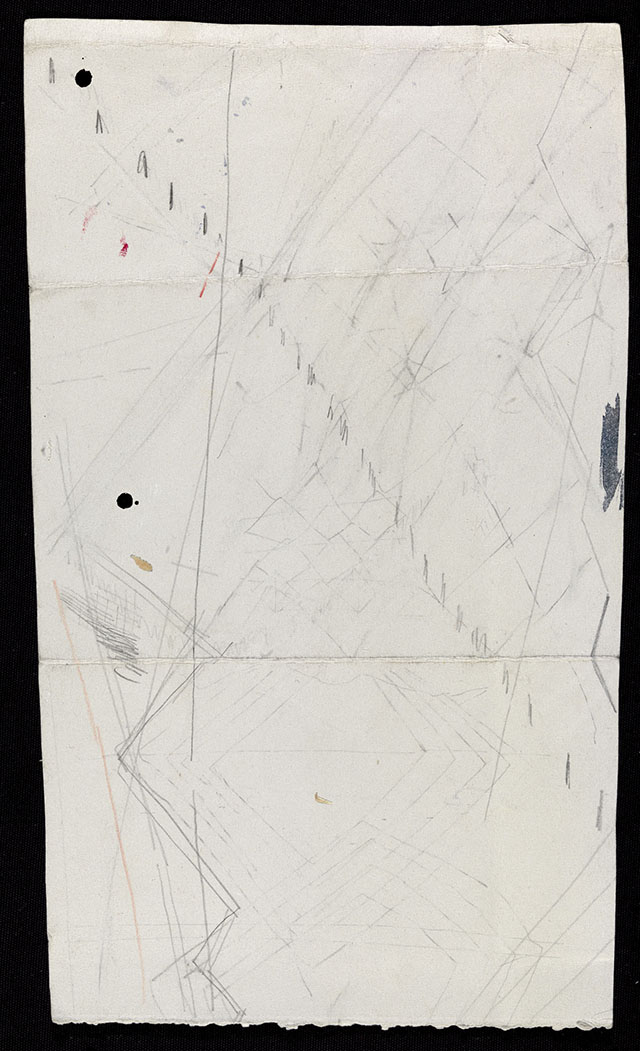 """Sherman Sam, """"HF_009,"""" (2013), graphite and ink on paper, 38.5 x 23 cm"""