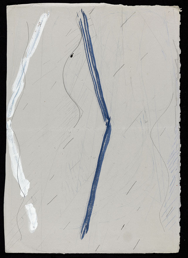 "Sherman Sam, ""HF_010,"" (2012), graphite and __ on paper, 39.5 x 27.7 cm"